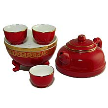 Hong Ci Porcelain Teapot Set